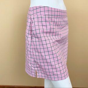 Adidas plaid golf climacool skort pinkberry